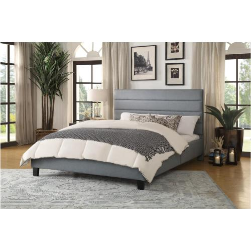 Light Gray Queen Bed in a Box