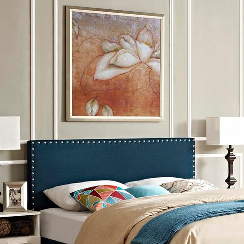 Modway - Phoebe Full Upholstered Fabric Headboard in Azure