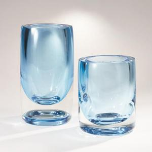 Thick Cylinder Vase-Powder Blue/Light Blue-Lg