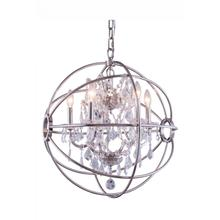 View Product - Geneva 5 light Polished nickel Pendant Clear Royal Cut crystal