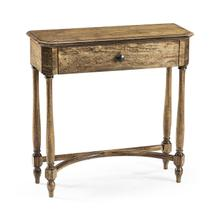 Medium Driftwood Small Console Table with Drawer