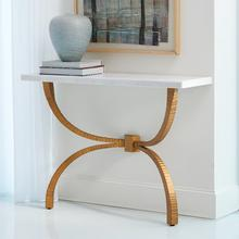 Teton Console-Gold w/White Marble Top