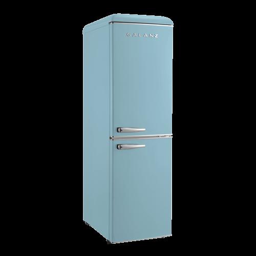Galanz 7.4 Cu Ft Retro Bottom Mount Refrigerator in Bebop Blue