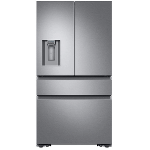 "36"" Counter Depth French Door Bottom Freezer, Silver Stainless Steel"