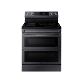 6.3 cu. ft. Smart Freestanding Electric Range with Flex Duo™, No-Preheat Air Fry & Griddle in Black Stainless Steel