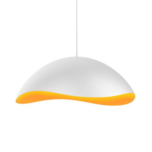Sonneman - A Way of Light - Waveforms Dome LED Pendant [Size=Small, Color/Finish=Satin White w/Apricot Interior]
