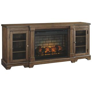 """See Details - Flynnter 75"""" TV Stand With Electric Fireplace"""