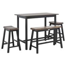 See Details - Hailey 4 PC Set Pub Table - Dark Espresso / Black