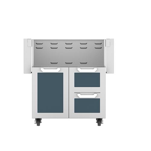 """Hestan - 30"""" Hestan Outdoor Tower Cart with Door/Drawer Combo - GCR Series - Pacific-fog"""