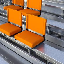 See Details - Grandstand Comfort Seats by Flash - 500 lb. Rated Lightweight Stadium Chair with Handle & Ultra-Padded Seat, Orange
