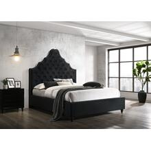 7578 Velvet Tufted Platform Bed - EASTERN KING