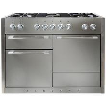 AGA Mercury 48 Dual Fuel Stainless Steel with Chrome trim