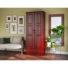 5642 - 100% Solid Wood Flexible Wardrobe -Mahogany