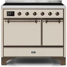 View Product - Majestic II 40 Inch Electric Freestanding Range in Antique White with Bronze Trim