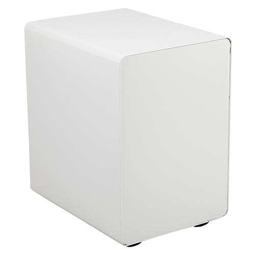 Flash Furniture - Ergonomic 3-Drawer Mobile Locking Filing Cabinet with Anti-Tilt Mechanism and Hanging Drawer for Legal & Letter Files, White