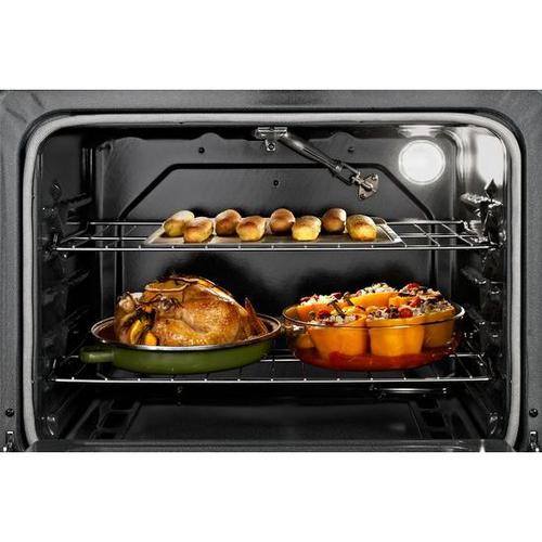 Whirlpool - Whirlpool® 5.0 Cu. Ft. Freestanding Gas Range with AccuBake® Temperature Management System - Universal Silver