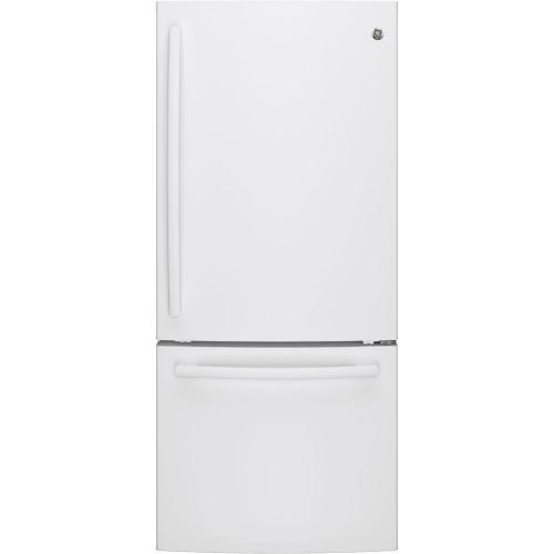 GE 20.9 cu.ft. Bottom Freezer Refrigerator White GBE21AGKWW
