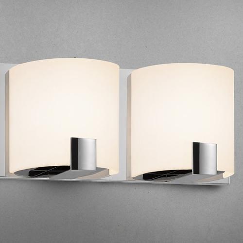 Sonneman - A Way of Light - C-Shell LED Bath Bar [Size=2-Light, Color/Finish=Satin Nickel]