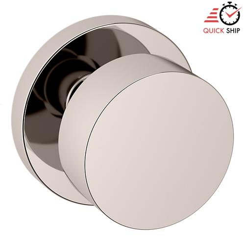 Baldwin - Polished Nickel with Lifetime Finish 5055 Estate Knob with 5046 Rose