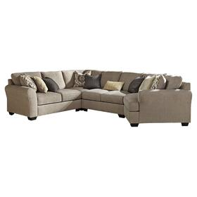 See Details - Pantomine 4-piece Sectional With Cuddler