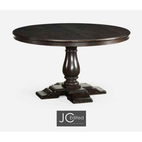 "55"" Circular Dark Ale Extending Dining Table"