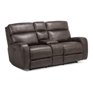 See Details - Tomkins Park Power Reclining Loveseat with Console and Power Headrests