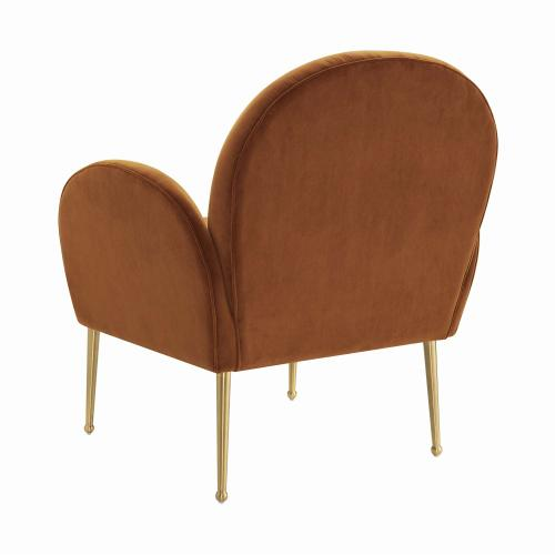 Gwen Cognac Velvet Chair