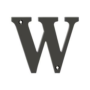 "Deltana - 4"" Residential Letter W - Oil-rubbed Bronze"
