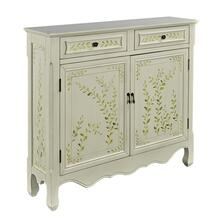 2-drawer and 2-door With Shelves Inside Console, White Hand Painted