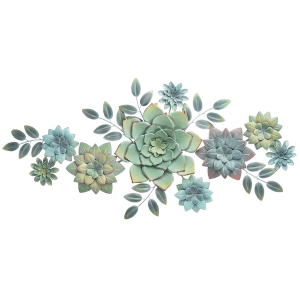 Layered Multi Succulent Wall Decor