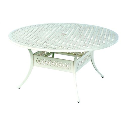 "Weave 60"" Round Dining Table w/ umbrella hole"