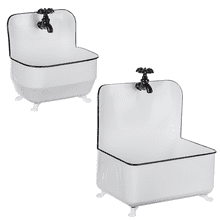 See Details - Black & White Enamel Bath Tub Planter (2 pc. set)