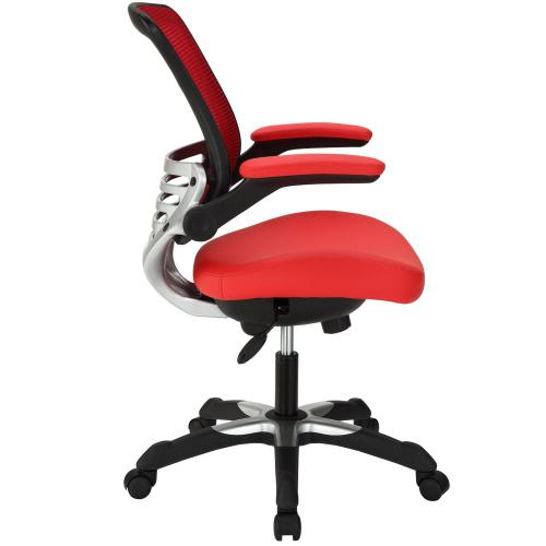 Edge Vinyl Office Chair in Red
