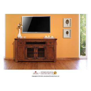 """See Details - 62"""" TV Console w/4 doors, 2 drawers & 1 Landscape door"""