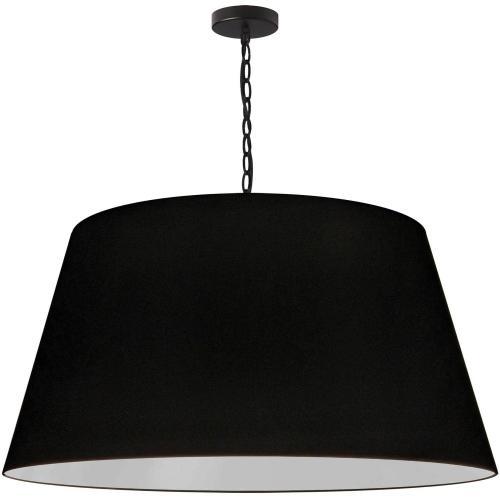 1lt Brynn X-large Pendant, Blk Shade, Black
