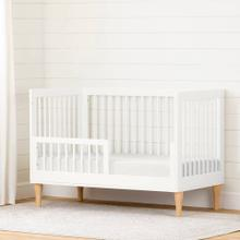 Toddler Rail for Baby Crib - Pure White