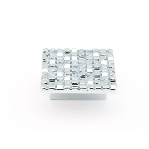 """Mosaic, Square Knob, 1-7/8"""" diameter, Polished Chrome finish"""