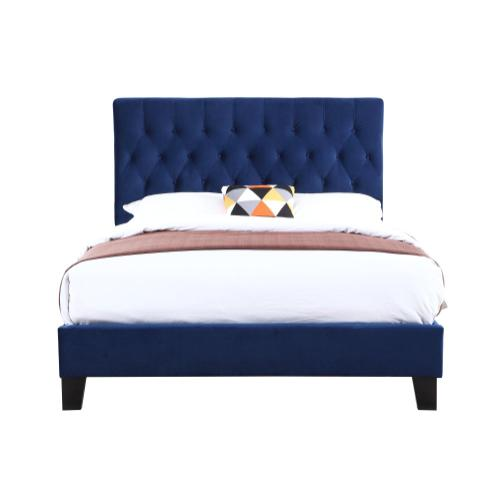 Emerald Home Amelia Upholstered Bed Kit Queen Navy B128-10hbfbr-34