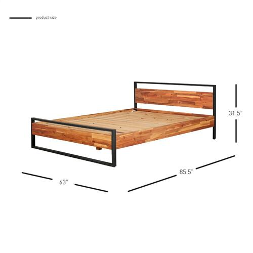 Zachary KD Queen Bed Set, Natural