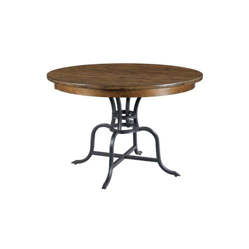 """44"""" Round Dining Table With Metal Base"""
