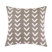 Trent Applique Arrow Design Pillow, 20x20