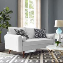 See Details - Revive Upholstered Fabric Loveseat in White