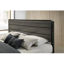 Ioana Antique Grey Finish Wood (QUEEN & KING) Size Bed, Queen