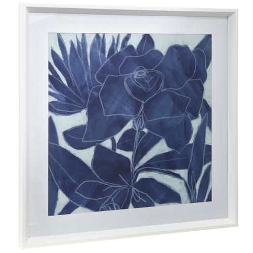 Style Craft - ROYAL BLOOM I  25in w X 25in ht  Framed Print Under Glass with Matte