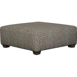 Classic Cocktail Ottoman Charcoal Leopard