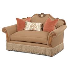See Details - Wood Trim Camelback Loveseat - Opt1