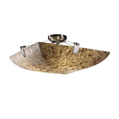 "24"" Semi-Flush Bowl w/ U-Clips"