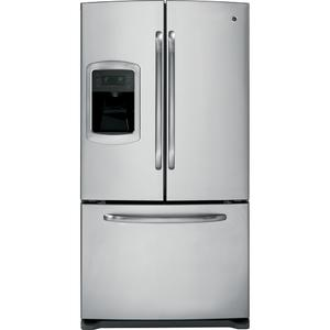GE® ENERGY STAR® 25.9 Cu. Ft. French Door Refrigerator with Icemaker (This may be a Stock Photo, actual unit (s) appearance may contain cosmetic blemishes. Please call store if you would like additional pictures). This unit carries our 6 Month warranty, MANUFACTURER WARRANTY and REBATE NOT VALID with this item. ISI 39146