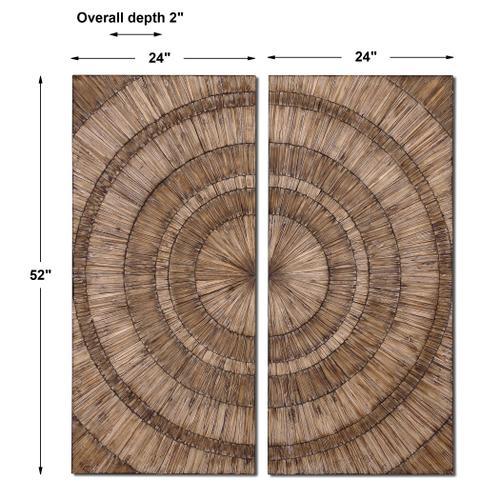 Uttermost - Lanciano Wood Wall Panels, S/2