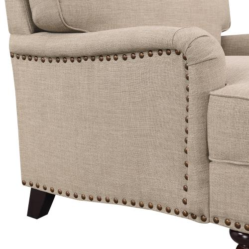Abby Sofa W/Pillows in Heirloom Smoke / Pewter